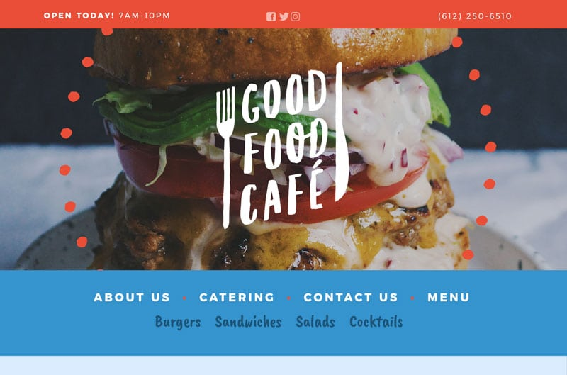 Restaurant Website Homepage